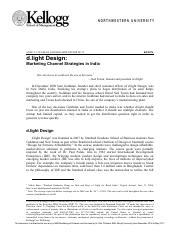 d.light Design-Marketing Channel Strategies in India