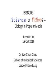 BS8003 Lecture 10