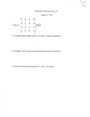 Diffential Equations Test 5E015