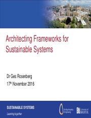 Dr Rosenberg - Architecting Frameworks for Sustainable Sytems Nov 2016 [for Blackboard].pdf