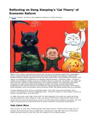Reflecting on Deng Xiaoping's 'Cat Theory' of Economic Reform.pdf