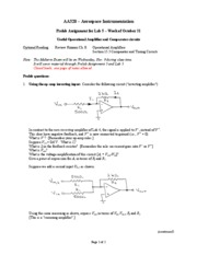AA 320 Pre-Lab Assignment #5 - 2011-2