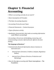 test 1 study guide ch 1 4 chapter 1 financial accounting u2022 what rh coursehero com financial accounting study guide pdf introductory financial accounting study guide