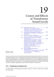 Chapter 19. Causes and Effects of Transformer Sound Levels
