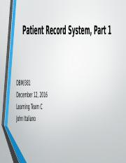 week 2 Patient Record System
