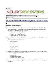 RN exam practice Questions