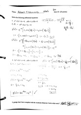 Differential Equations Section 3 Textbook Quiz