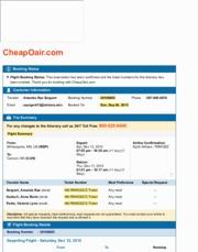 cheapoair flight details
