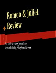 Romeo & Juliet final review