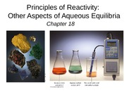 Chapter 18, principles of reactivity