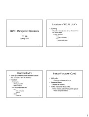 Lecture 5 Management Operations