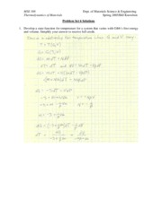 MSE 308 Problem Set 6 Solutions