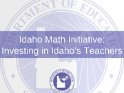 Math Initiative supt. conf