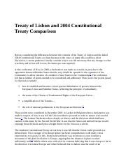 Treaty of Lisbon and 2004 Constitutional Treaty Comparison.docx