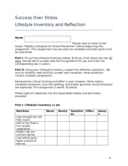 Reflection_LifestyleInventory