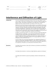 Interference and Diffraction 6.0