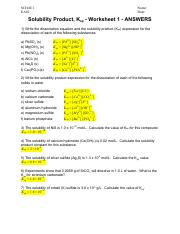 Solubility Product (Ksp) Worksheet 1 (Answers).pdf