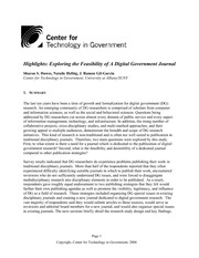Exploring the Feasibility of A Digital Government Journal