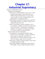 Chapter 17- Industrial Supremacy