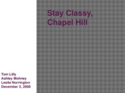 Final Stay Classy Chapel Hill Presentation