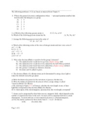 McMaster Chem 1A03 tutorial questions 3