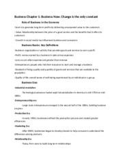 Chapter 1 - Notes - Intro To Business