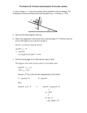 Recitation Worksheet H Solutions