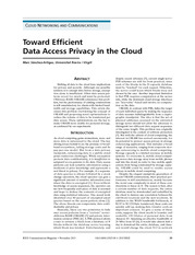 Toward Efficient Data Access Privacy in the Cloud