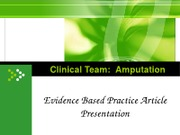 Evidence Based Practice Article Presentation