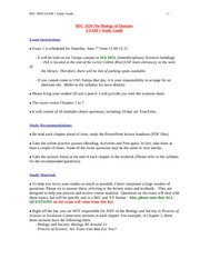 BSC1020_Summer2014_EXAM 1 Study Guide (1)