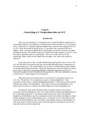 TaxPlanning-Case9-CtoLLCConversion-2013