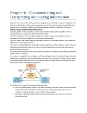 Chapter 6 - Communicating and Interpreting Accounting Information