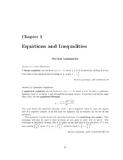 Equations and Inequalities Examples