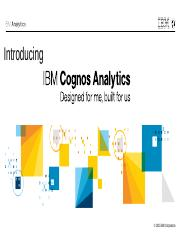 Cognos Analytics Overview