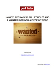 How To Put Smokin Bullet Holes And a Wanted Sign Into a Piece Of Wood