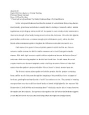 Critical reading essay 1
