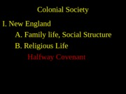 3 Colonial Society