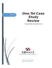 case study corporate governance onetel