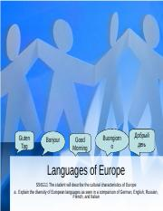 Languages of Europe.ppt