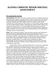 AGATHA CHRISTIE MINOR WRITING ASSIGNMENT.docx