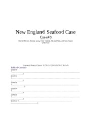 New England Seafood Case