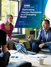 KPMG article - rethinking global HR