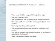 Hisorical Overview, Al-Andalus