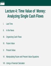 Lecture 4 - Time Value of Money