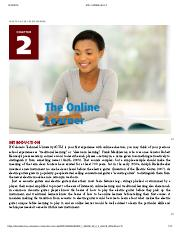 Creating Academic and Career Success - CHAPTER 2_ THE ONLINE LEARNER