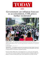 Government cut inflation forecast as accomodation, COE prices further moderated.pdf