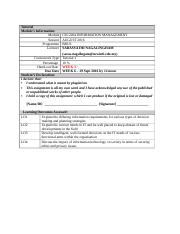 CSC2204 Tutorial1 Assessment criteria and coverpage