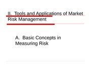 FRM Powerpoints 2011 Unit IIA Basic Concepts in Measuring Risk