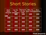 Short Stories Review Game