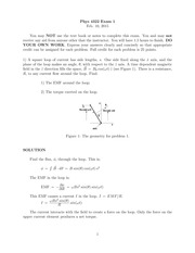 Exam 1 Solution on Classical Electrodynamics